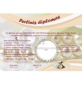 Perlinių vestuvių diplomas (VMPERL-03)