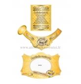Perlinių vestuvių šampano etiketė (VMPERL-04)