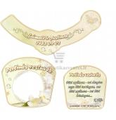 Perlinių vestuvių šampano etiketė (VMPERL-05)
