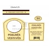 Perlinių vestuvių brendžio etiketė (VMPERL-07)