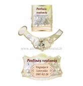 Perlinių vestuvių šampano etiketė (VMPERL-08)