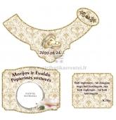Popierinių vestuvių šampano etiketė (VMPOP-04)