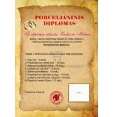 Porcelianinių vestuvių diplomas (VMPOR-01)