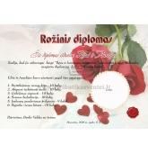 Rožinių vestuvių diplomas (VMROZ-01)