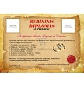 Rubininių vestuvių diplomas (VMRUB-01)