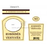 Rubininių vestuvių brendžio etiketė (VMRUB-02)