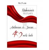 Rubininių vestuvių etiketė (VMRUB-03)