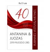 Rubininių vestuvių etiketė (VMRUB-04)