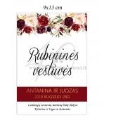 Rubininių vestuvių etiketė (VMRUB-05)