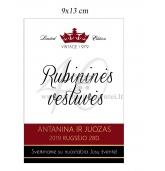 Rubininių vestuvių etiketė (VMRUB-06)