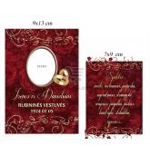 Rubininių vestuvių vyno etiketė (VMRUB-09)