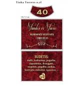 Rubininių vestuvių etiketė (VMRUB-10)
