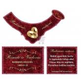 Rubininių vestuvių šampano etiketė (VMRUB-11)