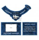 Safyrinių vestuvių šampano etiketė (VMSAF-02)