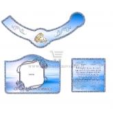 Safyrinių vestuvių šampano etiketė (VMSAF-03)