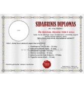 Sidabrinių vestuvių diplomas (VMSID-01)
