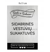Sidabrinių vestuvių vyno etiketė (VMSID-02)