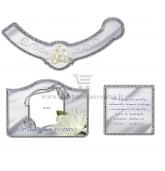 Sidabrinių vestuvių šampano etiketė (VMSID-07)