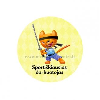 """Ženkliukas-nominacija """"Sportiškiausias darbuotojas"""""""