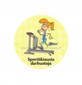 """Ženkliukas-nominacija """"Sportiškiausia darbuotoja"""""""