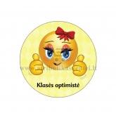 """Ženkliukas """"Klasės optimistė"""""""