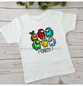 Among us gimtadienio marškinėliai