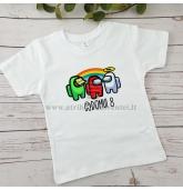 Among us teminiai marškinėliai vaikui
