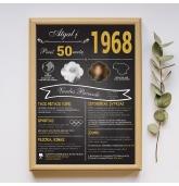 """Paveikslas """"Atgal į 1968 metus"""" - 30x40 cm formatas"""