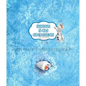 """Personalizuoti saldainių popierėliai """"Olafas"""""""