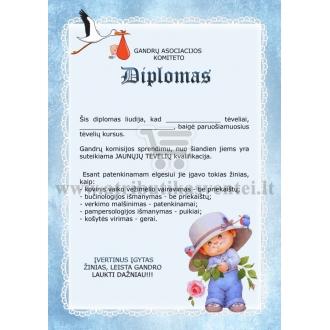 Diplomas tėveliams (berniuko)