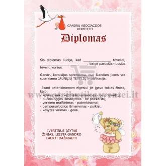 Diplomas tėveliams (mergaitės)