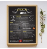 """Dovana 20 jubiliejaus proga - Paveikslas """"Atgal į 2000 metus"""""""