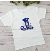"""Marškinėliai """"Vardo raidė"""" (Jūra)"""