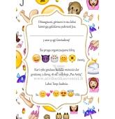 """Gimtadienio kvietimas """"Emoji"""" tema"""