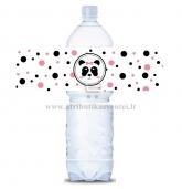 """Etiketė vandens, gėrimo buteliams """"Panda"""""""