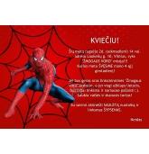 """Gimtadienio kvietimas """"Žmogus voras"""""""