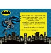 """Gimtadienio kvietimas """"Batman"""""""