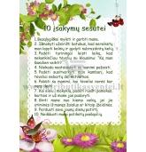 10 įsakymų sesutei