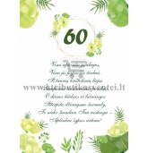 60 jubiliejaus sveikinimas