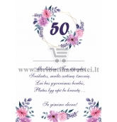 50 jubiliejaus sveikinimas
