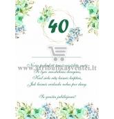 40 jubiliejaus sveikinimas
