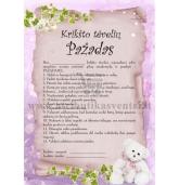 Krikšto tėvelių pažadas (mergaitei)