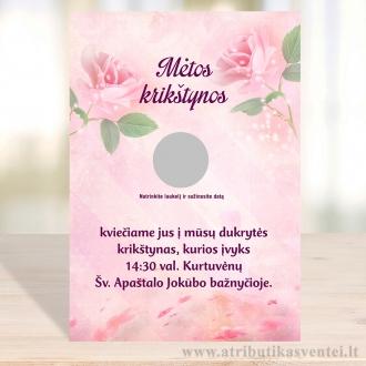 Krikštynų kvietimai, rožės