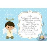 """Krikštynų kvietimai """"Angeliukas"""""""