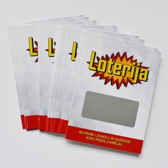 Nutrinami loterijos bilietai (20 vnt)