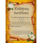Krikštynų sertifikatas
