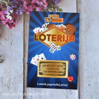 Kvietimas liudininkams - Loterijos bilietas