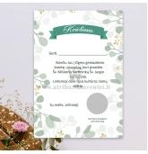 Krikštynų, vestuvių, gimtadienio kvietimas su nutrynimu (KV-142)