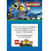 Kvietimai Lego tema
