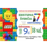 Lego gimtadienio kvietimas